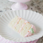 Strawberry Almond Layered Easter Cake